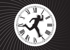 Tiempo y hombre Fotos de archivo