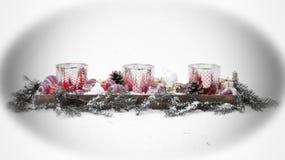 Tiempo y regalos, tarjeta de Navidad de la Navidad Foto de archivo libre de regalías