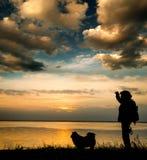 Tiempos de la puesta del sol Imágenes de archivo libres de regalías