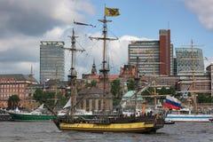 Tiempos estándar de la fragata de Rusia Tsarist en Hamburgo Fotografía de archivo libre de regalías