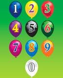 Tien aantallen over ballons royalty-vrije illustratie