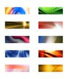 Tien abstracte rechthoekige achtergronden Royalty-vrije Stock Fotografie