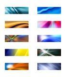 Tien abstracte rechthoekige achtergronden Stock Afbeelding
