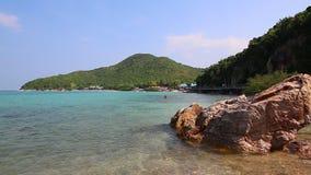Tien Beach In Koh Larn Island Of Chonburi Thailand stock video footage