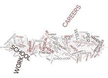 Tien Carrières voor Who van Middelbare schooloudsten de Tekst van de Achtergrond haatschool Word Wolkenconcept vector illustratie