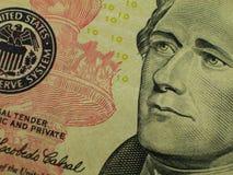 Tien Dollar rekening-Hamilton Royalty-vrije Stock Fotografie