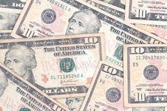 Tien dollarsrekeningen Royalty-vrije Stock Afbeeldingen