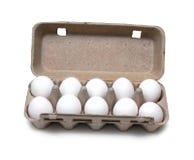 Tien eieren in pak Stock Afbeeldingen