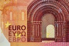 Tien euro bankbiljet 10 Royalty-vrije Stock Afbeeldingen