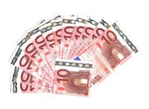 Tien euro bankbiljetten Royalty-vrije Stock Afbeelding