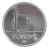 Tien Hongaars forintmuntstuk Royalty-vrije Stock Foto
