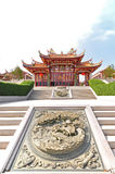 Tien Hou Tempel mit dem Vogelschnitzen Stockbild