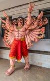 Tien leidden pop van de het lichaamsoptocht van Ravana de volledige, Madikeri India stock afbeeldingen