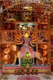 Tien overhandigd idool Durga Stock Afbeelding