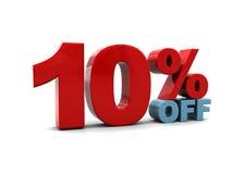 Tien percentenkorting Stock Afbeelding