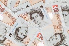 Tien pond neemt nota van groep de Bank van Engeland Stock Foto's