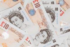 Tien pondennota's van Bank van Engeland Royalty-vrije Stock Fotografie