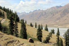 Região central de Quirguistão - Tien Shan Imagens de Stock Royalty Free