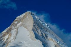 Tien Shan high altitude snow mountain landscape royalty free stock photography