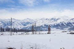 Tien Shan Mountains royalty-vrije stock foto's