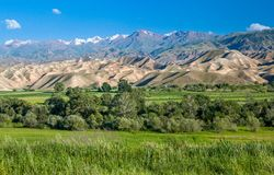 Tien Shan mountains and valley Royalty Free Stock Photos