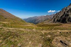 Tien Shen Mountains de piste supérieure de Shymbulak à Almaty, Kazakh Photos libres de droits