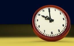Tien uur als achtergrond grote van het klok spoedhorloge gele 3D illustratie royalty-vrije stock foto