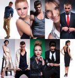 Tien verschillende mensencollage royalty-vrije stock afbeelding