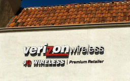 Tienda al por menor de Verizon Wireless imagen de archivo