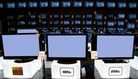 Tienda al por menor electrónica grande: TV Foto de archivo