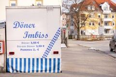 Tienda alemana del kebab imagen de archivo libre de regalías