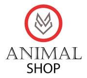 Tienda animal ilustración del vector