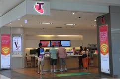 Tienda Australia del teléfono móvil de Telstra Imagenes de archivo