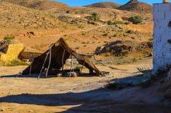 Tienda beduina abandonada Foto de archivo