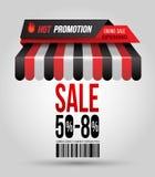 Tienda caliente del tejado del cartel de la venta de la promoción libre illustration