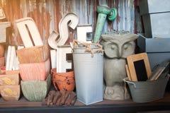Tienda casera de la decoración, hogar del estilo rural imágenes de archivo libres de regalías