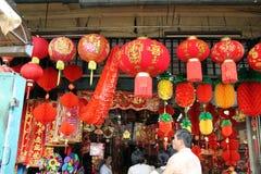 Tienda china de la decoración del Año Nuevo en la calle petaling Malasia Fotografía de archivo