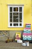 Tienda del vintage en el akureyri Islandia Fotos de archivo libres de regalías