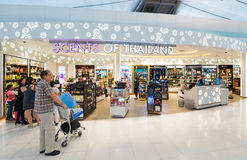 Tienda con franquicia, aeropuerto de Bangkok Fotografía de archivo libre de regalías