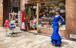 Tienda con los recuerdos en Málaga, España Fotografía de archivo libre de regalías