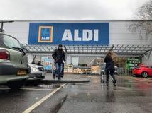Tienda de Aldi imagen de archivo