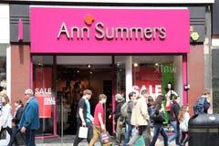 Tienda de Anne Summers Imagen de archivo libre de regalías