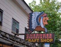 Tienda de arte cherokee Imagen de archivo