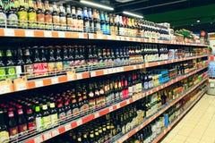 Tienda de bebidas alcohólicas Fotos de archivo