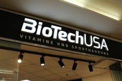 Tienda de Biotech los E.E.U.U. foto de archivo libre de regalías
