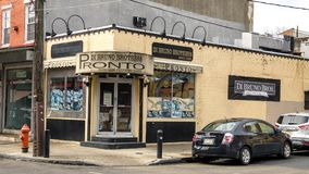Tienda de Bruno Brothers de los Di, mercado italiano de la 9na calle histórica, Philadelphia Fotografía de archivo