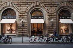 Tienda de Bulgari en Florencia Fotografía de archivo libre de regalías