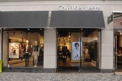 Tienda de Calvin Klein Jeans imágenes de archivo libres de regalías