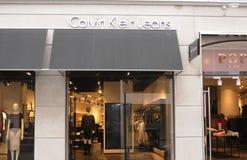 Tienda de Calvin Klein Jeans foto de archivo libre de regalías