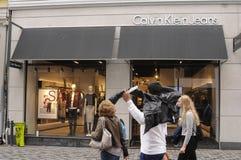 Tienda de Calvin Klein Jeans imagen de archivo